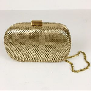 Whiting & Davis Gold Mesh Bag Clutch Crossbody